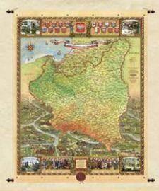 Mapa Polski 1918 - 1939  (66,5 x 88 cm)