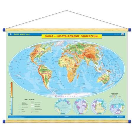 Duo Świat mapa fizyczna/mapa polityczna WDS