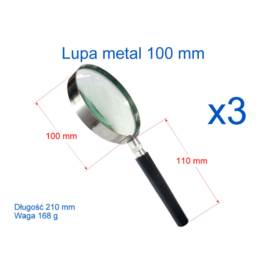 Lupa 100 mm z rączką metalowa