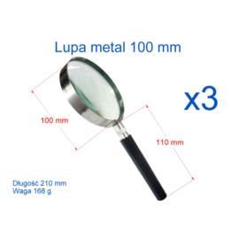 Lupa 100 mm z rączką metalowa