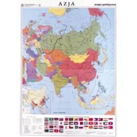 Azja. Mapa polityczna/konturowa