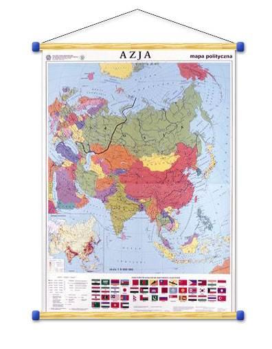 Azja Mapa Polityczna Konturowa