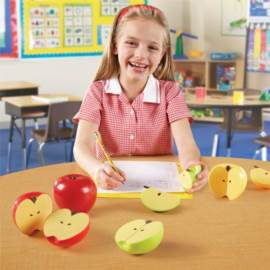 Magnetyczne jabłka - ułamki - jabłka ułamkowe