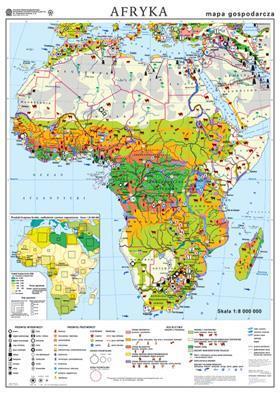 Afryka. Mapa gospodarcza