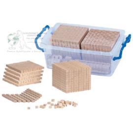 System dziesiętny klocki drewniane w pudełku PCV
