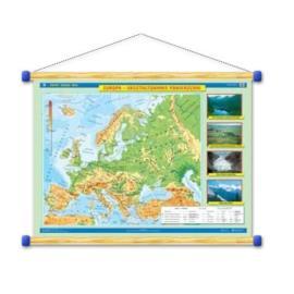Europa. Ukształtowanie powierzchni/Krajobrazy