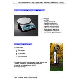 Zestaw pomiarowy waga elektronicz. + stacja pogody