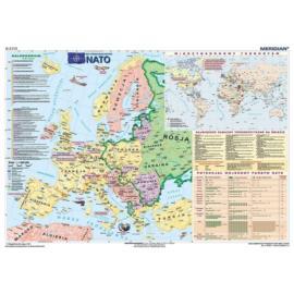 NATO - mapa ścienna