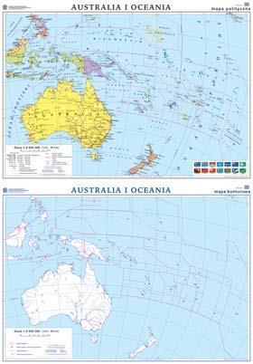 Australia Mapa Polityczna Konturowa
