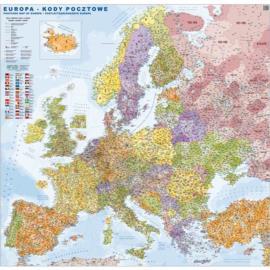 MAPA ŚCIENNA EUROPY – KODÓW POCZTOWYCH 1:3 000 000