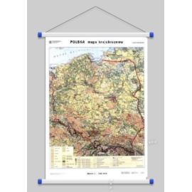 Polska. Mapa krajobrazowa / konturowa