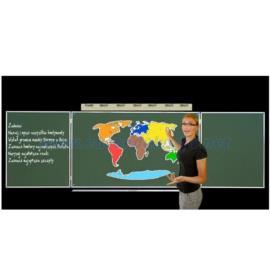 Kontynenty tablicowe magnetyczne z dodatkami