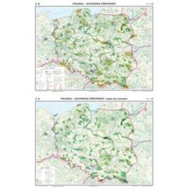 Polska. Mapa Ochrona przyrody / konturowa