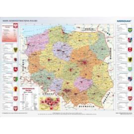 Mapa administracyjna Polski (stan na 2015)