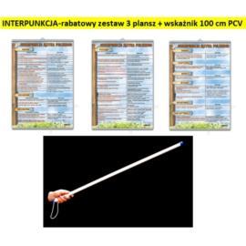 INTERPUNKCJA - zestaw 3 plansz + wskaźnik PCV