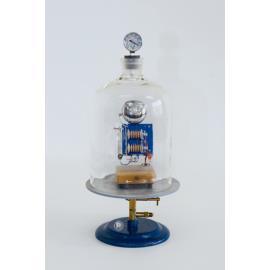 Klosz próżniowy z manometrem i dzwonkiem elektrycz
