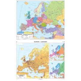 Europa.Mapa polityczna/Rozmieszczenie ludności