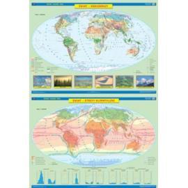 Świat DUO mapa Krajobrazy / Strefy klimatyczne
