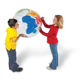 Globus z kontynentami - piłka 69 cm
