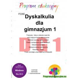 Dyskalkulia dla gimnazjum 1 lic. 1-stanowiskowa wi