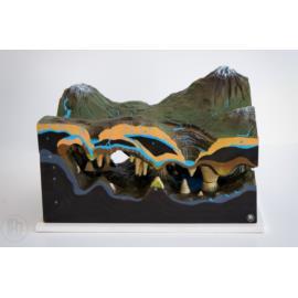 Model jaskini krasowej oraz ukształtowania terenu