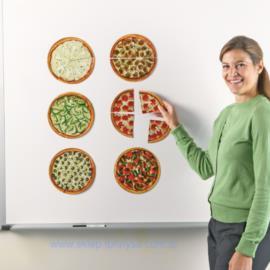 Magnetyczne pizze - ułamki – zestaw demonstracyjny