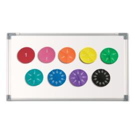 Magnetyczne koła ułamkowe - małe do tablicy