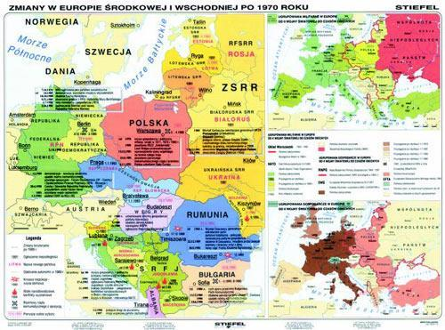 Europa Od 1945 Do 1999 Mapa Duo 160x120 Cm