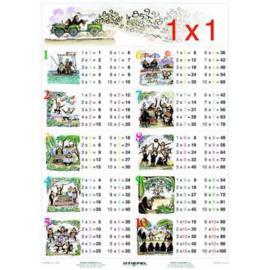 Tabliczka mnożenia - Mnożenie do 100  100 x140 cm