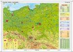 Polska fizyczna / konturowa 2014 r. mapa 160x120cm