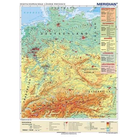 Kraje niemieckojęzyczne - fizyczna