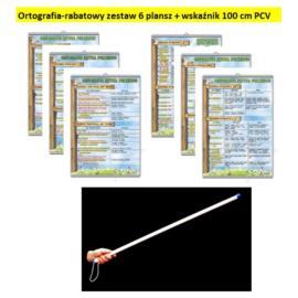 Ortografia-rabatowy zestaw 6 plansz + wskaźnik PCV