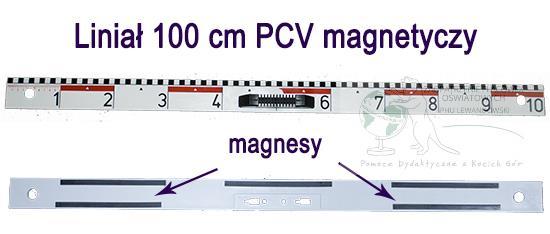 Linijka 100 cm liniał PCV lekki magnetyczny