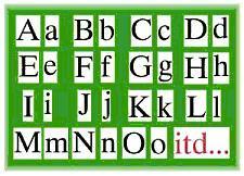 Alfabet drukowany ruchomy na magnes