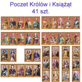 Poczet królów i książąt 41 szt. w antyramie
