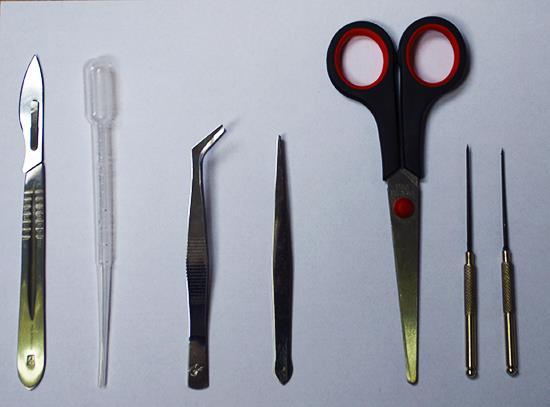 Zestaw narzędzi preparacyjnych