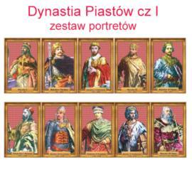 Zestaw portretów Dynastia Piastów cz. I w folii