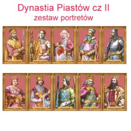 Zestaw portretów Dynastia Piastów cz. II w folii