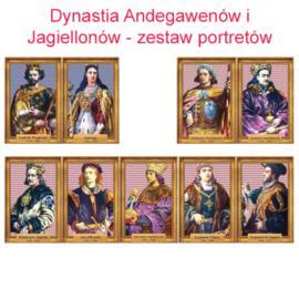 Zestaw portretów Andegawenów Jagiellonów w folii