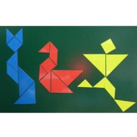Tangram tablicowy magnetyczny