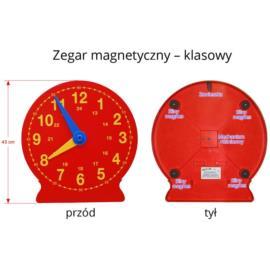 Wielki klasowy zegar magnetyczny z praktycznym
