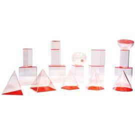 Bryły porównawcze transparentne - 10 cm - 17 brył