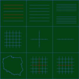 Liniatura na zielonej typu A (podano cenę za 1 m2)
