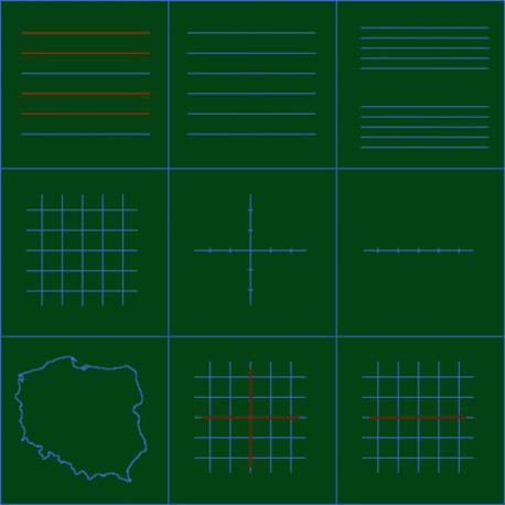 Liniatura na zielonej typu C (podano cenę za 1 m2)